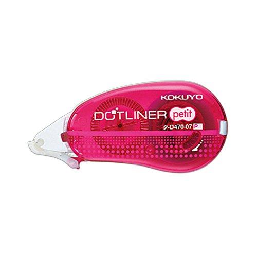コクヨ テープのり ドットライナー プチ 使い切りタイプ タ-D470-07P ピンク