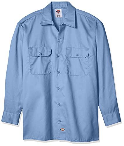 Dickies Chemise à Manches Longues pour Homme Coupe Droite - Bleu - Medium