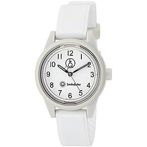 [シチズン Q&Q] 腕時計 アナログ スマイルソーラー 防水 ウレタンベルト RP01-014 レディース ホワイト