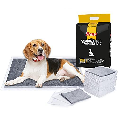 Dono - Tappetini da addestramento monouso al carbone attivo, per cani, super assorbenti, neutralizzano l'odore dell'urina, misura S, M, L, XL