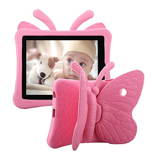 iPad Kids Case, iPad 2 Case, iPad 3 Case, Tading 3D Cute Butterfly Child Friendly Non-Toxic Light Weight Shockproof Drop proof Durable EVA Foam Stand Tablet Cover for iPad 2/3/4 - Pink
