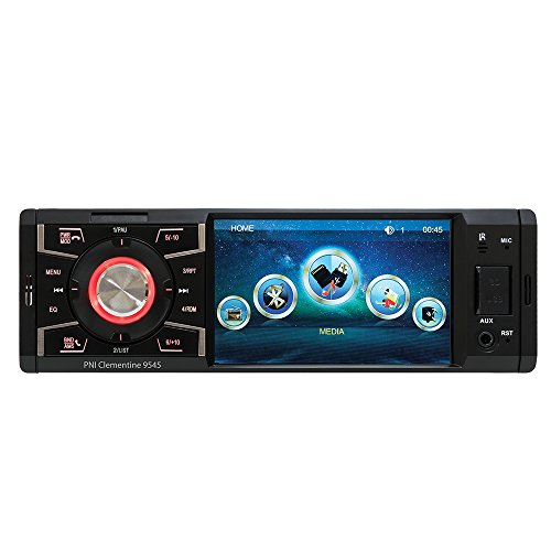Bluetooth Radio de coche, Single-Din Autoradio PNI Clementine 9545 1DIN Pantalla de 4 pulgadas, 50W x 4, Bluetooth, radio FM, SD y USB, 2 RCA video IN / OUT