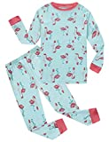 Flamingo Little Girls Long Sleeve Pajama Sets 100% Cotton Pjs Toddler Size 18-24 Months