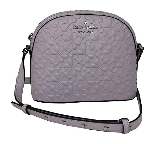 Kate Spade New York Hollie Spade Clover Geo Embossed X-Large Dome Crossbody Handbag, Light Frozen Lilac