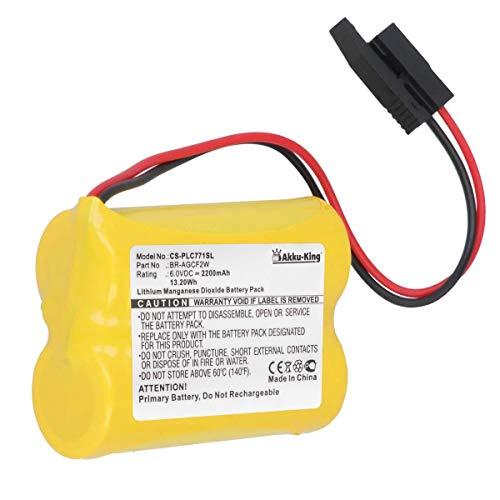 Akku-King PLC Batterie kompatibel mit GE BR-AGCF2W - Li-MnO2 2200mAh - für Fanuc A98L-0031-0011/L, A06B-6093-K001
