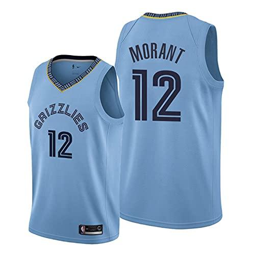 KKSY Camiseta de Hombre Memphis Grizzlies 12# Morant Jerseys Camiseta de Baloncesto Transpirable,C,M