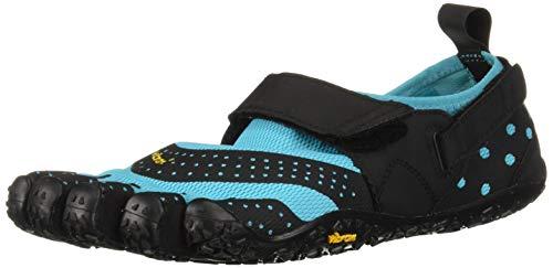 Vibram Fivefingers V-Aqua, Zapatillas Impermeables Mujer, Azul (Black/Light Blue...