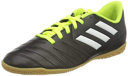 adidas Unisex-Kinder Fußball Hallenschuh Copaletto IN Fußballschuhe, Schwarz (Schwarz/Weiß/Gelb 000), 29 EU