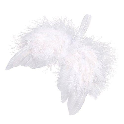 Anladia 10 St. 16cm Engelsflügel Federn Flügel Engel Anhänger Weihnachten Christbaumschmuck Baby Taufe Deko DIY Basteln Kinder