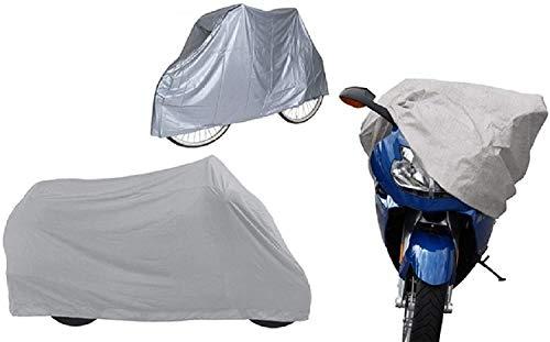Ducomi Telo Bicicletta Impermeabile Esterno per Biciclette, MTB, Bici Elettrica e Cyclette - Copertura Copribici e Moto - Protezione Copribiciclette Bicicletta Antipolvere, Antipioggia 205 x 125 cm