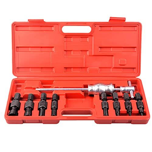 DA YUAN - Set di estrattori a percussione per cuscinetti interni, 8-32 mm, 9 pezzi, fori ciechi