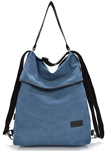 ERGEOB® Damen Multifunktions Rucksack - Verwendbar auch als Hand-, Trage-, Schulter- oder Umhängetasche