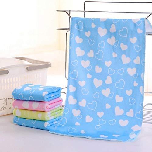 Qingb Baby Animal Print Serviette De Bain Mignon Serviette Bébé Bande Dessinée Absorbant Séchage Sécher Maillots De Bain Bébé Coton Enfants Serviettes, Bleu