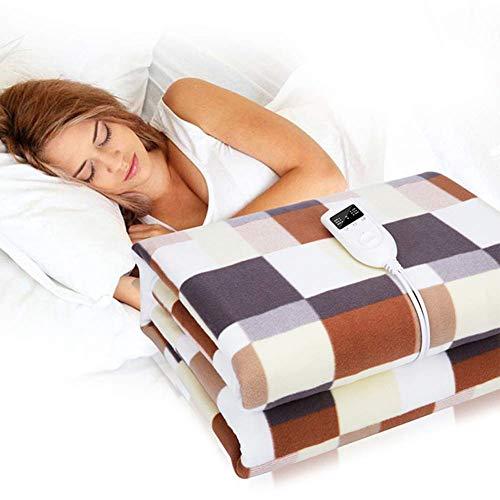 Heizdecke mit Abschaltautomatik, 200 * 180cm Elektrische Wärmedecke Groß fürs Bett Überhitzungsschutz