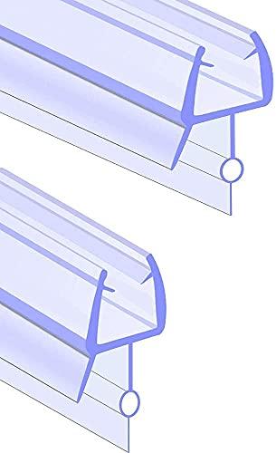 Junta para puerta de ducha, banda de sellado para puertas de ducha, de cristal, para mampara de ducha, para bañera, cabina de ducha, juntas, 100 – 300 cm, adecuada para cocina y baño (100 cm, 8 mm)