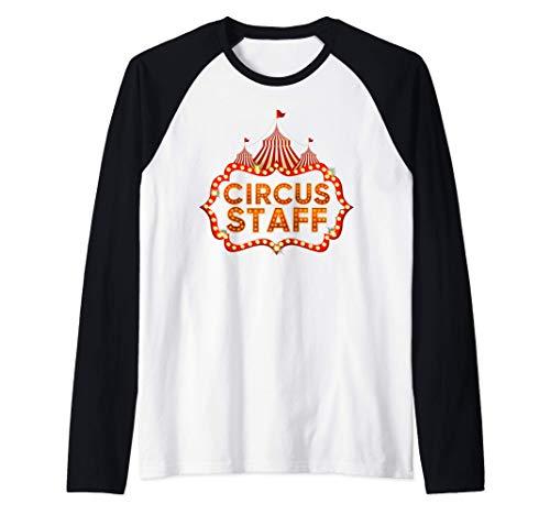 Circus Staff Disfraz Carnaval Personal de Circo Hombre Mujer Camiseta Manga Raglan