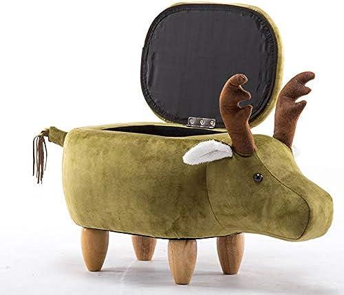 TENCMG Massivholz Hocker Sofa Bench - Creative Cattle schuhe Hocker Designe - M laufbewahrung Niedriger Hocker Aufbewahrungshocker,H,65X37X35CM