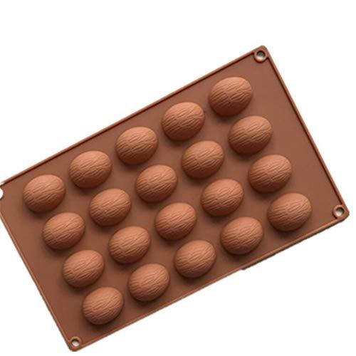 20 otworów orzechy włoskie kształt orzechy ciasto czekolada formy silikonowe pudding forma gospodarstwo domowe zrób to sam narzędzia do pieczenia ciasta, żelowa kremówka czekolada forma cukierkowa mata do pieczenia, naczynie do pieczenia patelnia blacha do pieczenia