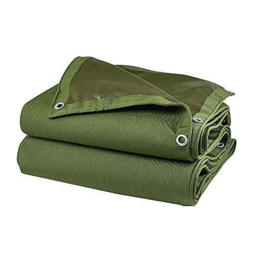 WYJW waterdicht dekzeil met lijm groene buitenste zonwering folie met oog (grootte: 4X3m) 2X1.5m