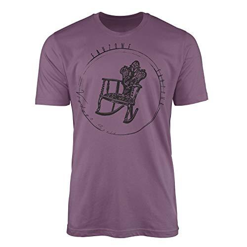 T-shirt vintage chaise à bascule - Structure fine agréable et coupe sportive. - Violet - X-Large
