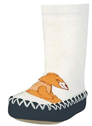 Playshoes - Socquettes Garçon - Slipper Socks, Moccasin, House Shoes, Bear, Beige (900 Original ), 19