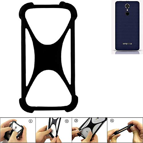 K-S-Trade Handyhülle für Emporia SMART.2 Schutz Hülle Silikon Bumper Cover Case Silikoncase TPU Softcase Schutzhülle Smartphone Stoßschutz, schwarz (1x)