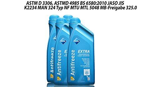 ARAL Antifreeze Extra Kühlerfrostschutz -4X 1 Liter