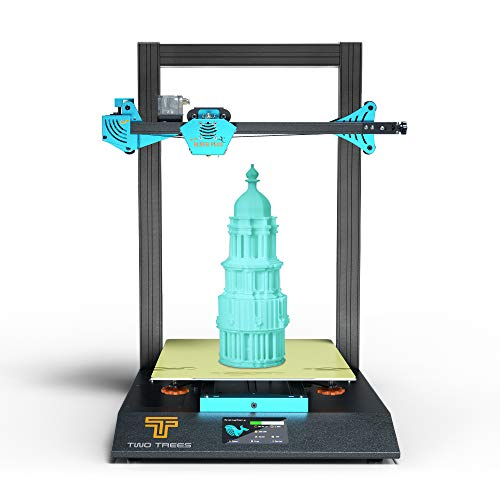 pedkit 3D Printers,BLUER PLUS 3D Printer 90% Pre-Assembled 300 * 300 * 400mm Large Build Volume Silent Printing Dual Z Axis with 4.3 Inch Touchscreen Hot Bed Magnetic PEI Spring Steel
