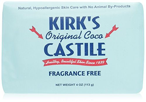 Kirk's Coco Castile Soap, Fragrance Free (Pack of 5)