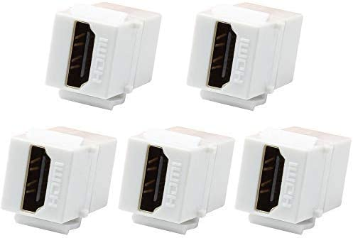 VICTEK 5-Pack HDMI Keystone Female Max 51% OFF to Ranking TOP13 Coupler Snap-in for
