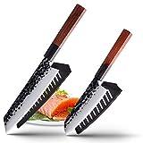 8CR14COM Steel Utility JAPÓN Chef Chef 8 '' Cuchillos DE Cuchilla DE Cuchillo DE Cuchilla DE Cocina Cocina Cuchilla Cuchillos DE Pan DE Pan (Color : 2 PCS Value Set F)