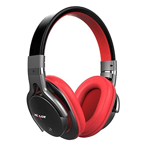 Oqqo Auriculares inalámbricos Bluetooth Auriculares Bluetooth estéreo Plegables sobre Auriculares con micrófono