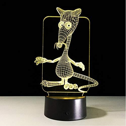 Símbolo animal del zodiaco chino 12 animales Lámpara 3D 16 colores Luz nocturna Ratón Buey Tigre Conejo Dragón Caballo Caballo Cabra Cerdo Regalo creativo