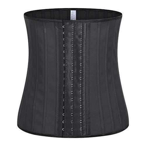 SXFJF - Cinturón de entrenamiento de cintura para mujer (látex, con 25 huesos de acero, para pérdida de peso, color negro, talla L)