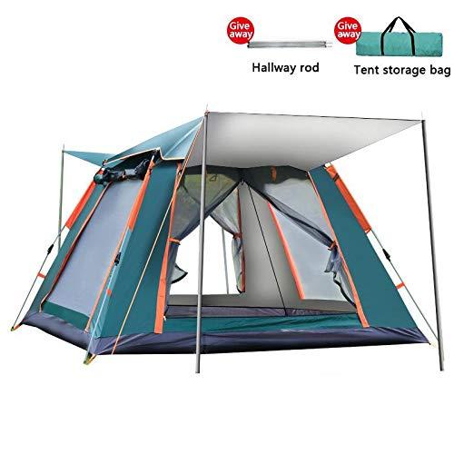 HYQW Tienda De Campaña Velocidad Completamente Automática Playa Abierta Camping Automático Carpa De Resorte Ventana Camping Tienda