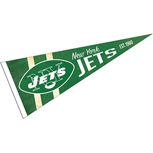 WinCraft New York Jets Throwback Vintage Retro Pennant Flag