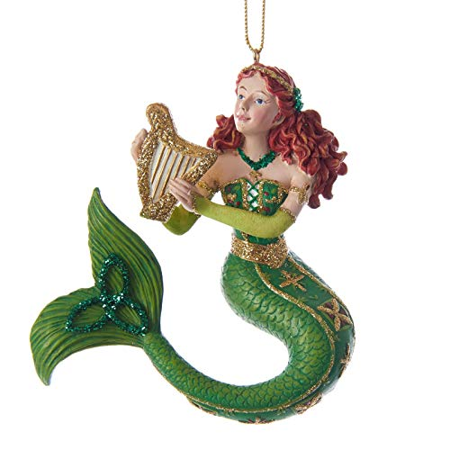 Kurt Adler Ireland International Mermaid Ornament