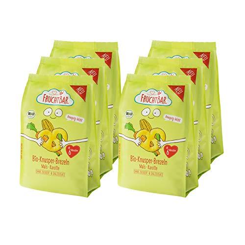 FruchtBar – Bio-Knusper-Brezeln Mais, Karotte; 6x25g
