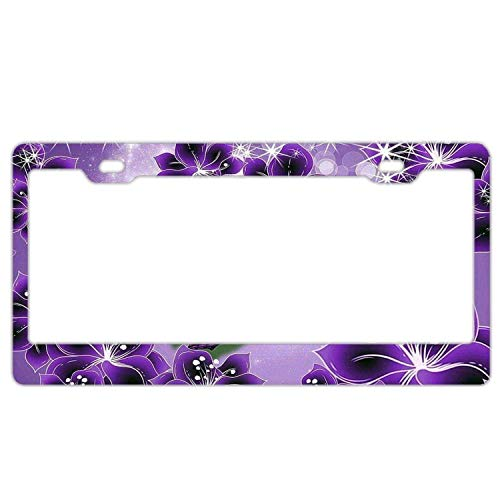 license plate frame with flowers - 7