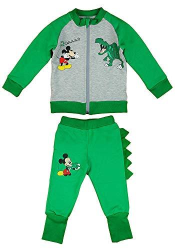 Disney Mickey Mouse Sportanzug, 2Teiler Set, Junge Gr. 68 74 80 86 92 98 104 110 116 Baumwolle Outfit Jogginganzug Hose mit Jacke Kapuzen-Pullover Farbe Modell 8, Größe 104