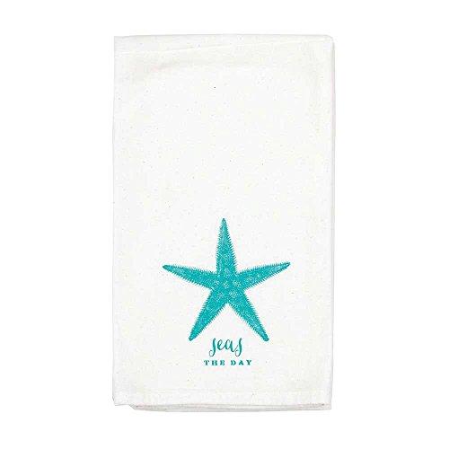 Jozie B Seas The Day Sea Star 18 x 22 All Cotton Flour Sack Towel Set of 2