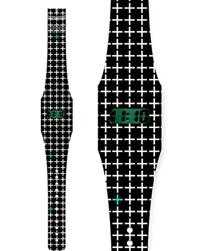 Kimoa - Reloj pappwatch Cruces, estampado, Normal Unisex Adulto