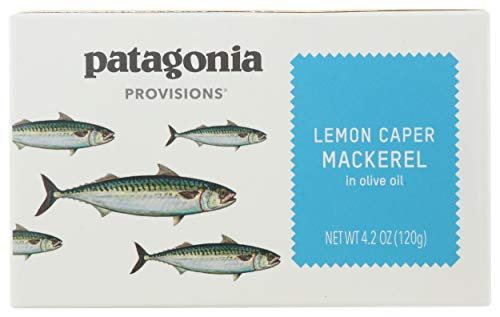 Patagonia Provisions, Mackerel Lemon Caper Olive Oil, 4.2 Ounce