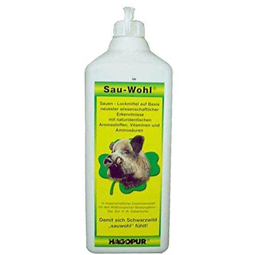 Hagopur Sau Wohl Lockmittel 1 Liter Duftstoff Schwarzwild-Lockmittel Lockstoff für Wildschweine