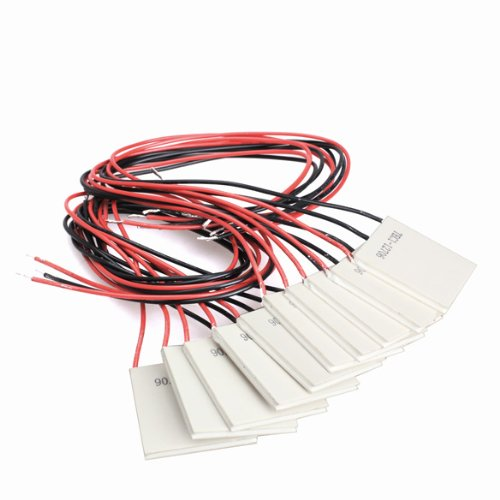 Diymore 10pcs TEC1-12706 40x40MM 12V 6A Heatsink Thermoelectric Cooling Peltier Plate Module