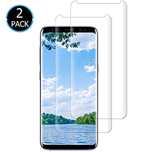 [2-Pack] Galaxy S8 Screen Protector,9H Hardness Tempered Glass Screen Protector Film Compatible with Samsung Galaxy S8.