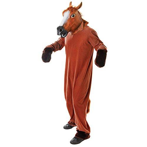 Bristol Novelty AC417 Pferd Kostüm, Medium, Unisex– Erwachsene, Mehrfarbig, M
