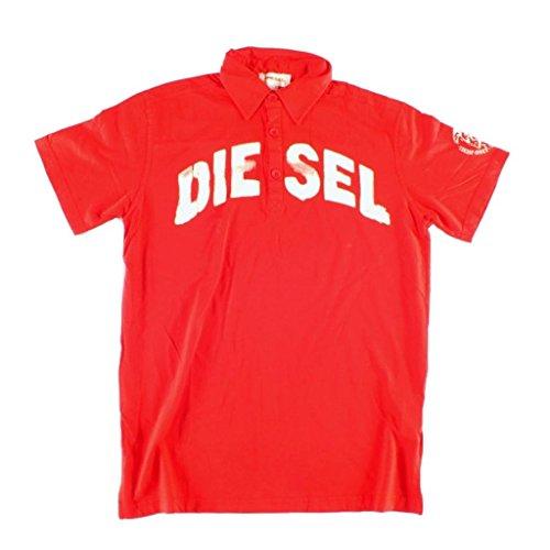 Diesel Herren-Poloshirt, Größen S, M, L, XL, Rot