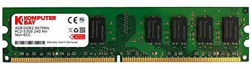 Komputerbay 4GB DDR2 667MHz PC2-5300 PC2-5400 DDR2 667 (240 PIN) DIMM Desktop Memory