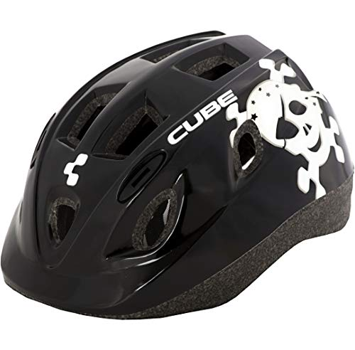 Cube Kids Kinder Fahrrad Helm 48-52cm Skull grau 48-52cm